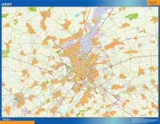 Mapa de Gante en Bélgica gigante