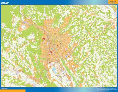 Mapa de Graz en Austria gigante