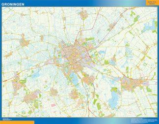 Mapa de Groningen gigante