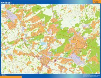Mapa de Hasselt en Bélgica gigante