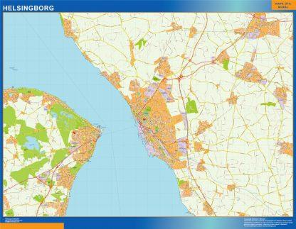 Mapa de Helsingborg en Suecia gigante
