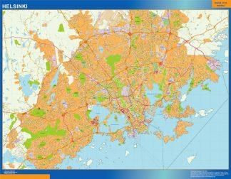 Mapa de Helsinki en Finlandia gigante