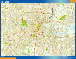 Mapa de Houston gigante