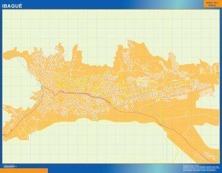 Mapa de Ibague en Colombia gigante