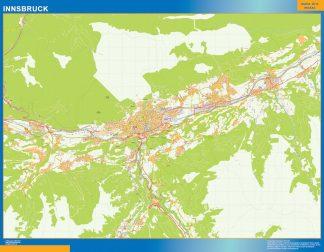 Mapa de Innsbruck en Austria gigante