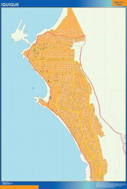 Mapa de Iquique en Chile gigante