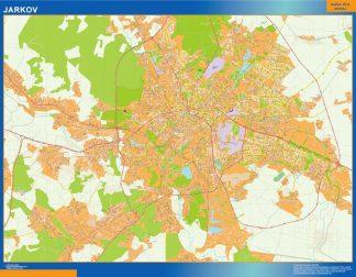 Mapa de Jarkov en Ucrania gigante