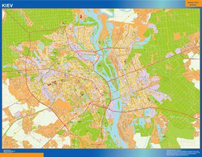Mapa de Kiev en Ucrania gigante