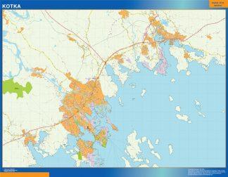 Mapa de Kotka en Finlandia gigante