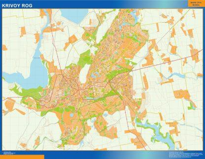 Mapa de Krivoy Rog en Ucrania gigante