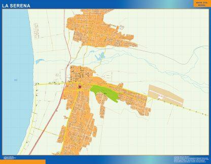 Mapa de La Serena en Chile gigante