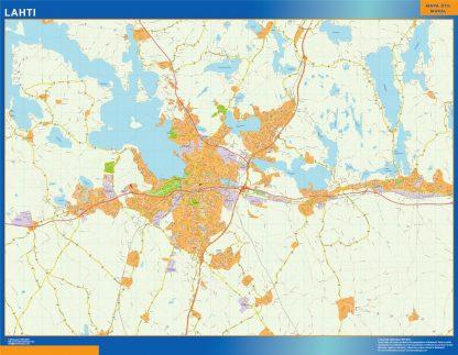 Mapa de Lahti en Finlandia gigante