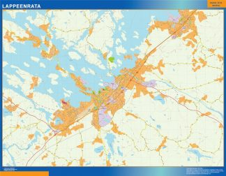 Mapa de Lappeenrata en Finlandia gigante