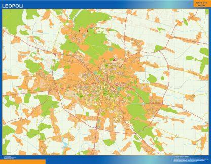 Mapa de Leopoli en Ucrania gigante