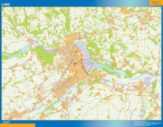 Mapa de Linz en Austria gigante