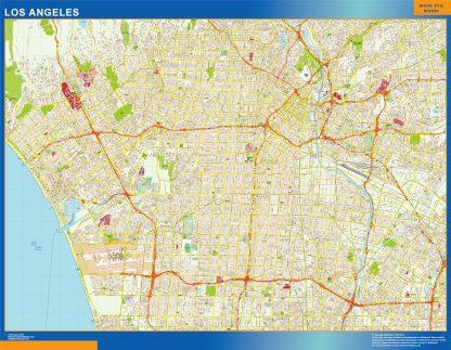 Mapa de Los Angeles gigante