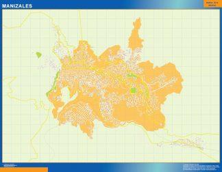 Mapa de Manizales en Colombia gigante