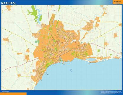 Mapa de Mariupol en Ucrania gigante