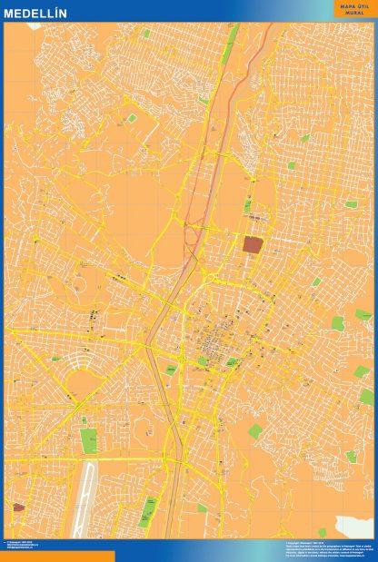 Mapa de Medellin en Colombia gigante