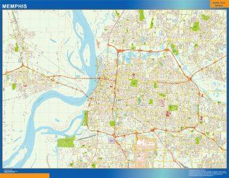 Mapa de Memphis gigante