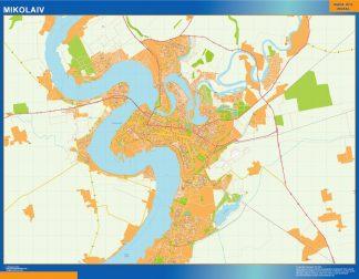 Mapa de Mikolaiv en Ucrania gigante