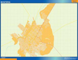 Mapa de Monteria en Colombia gigante