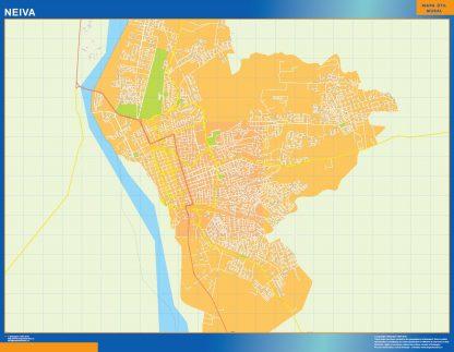 Mapa de Neiva en Colombia gigante