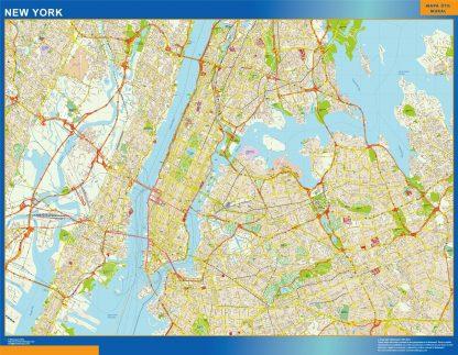 Mapa de Nueva York gigante