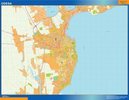 Mapa de Odesa en Ucrania gigante