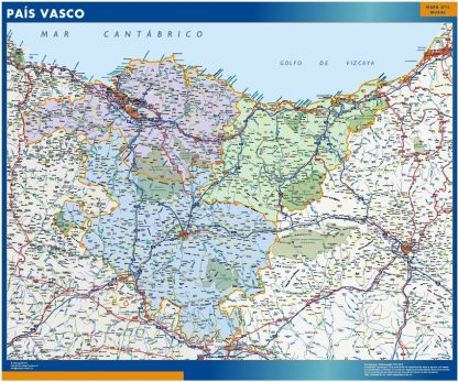 Mapa de Pais Vasco gigante