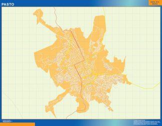 Mapa de Pasto en Colombia gigante