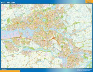 Mapa de Rotterdam gigante