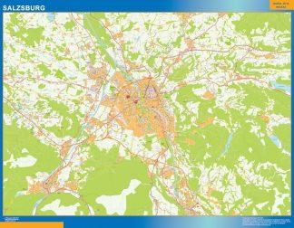 Mapa de Salzsburgo en Austria gigante