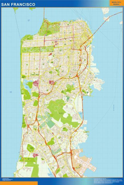 Mapa de San Francisco gigante
