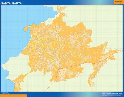 Mapa de Santa Marta en Colombia gigante