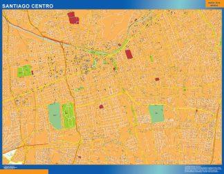 Mapa de Santiago de Chile en Chile gigante