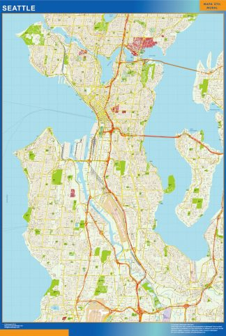 Mapa de Seattle gigante