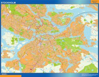 Mapa de Stockholm en Suecia gigante
