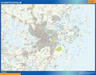 Mapa de Storstockholm en Suecia gigante