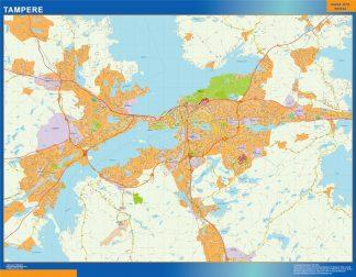 Mapa de Tampere en Finlandia gigante