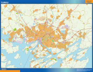 Mapa de Turku en Finlandia gigante
