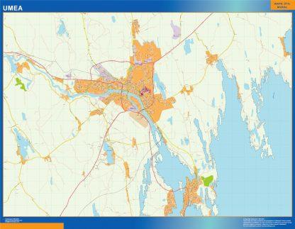 Mapa de Umea en Suecia gigante