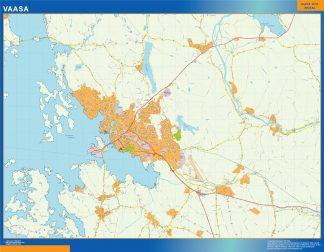 Mapa de Vaasa en Finlandia gigante
