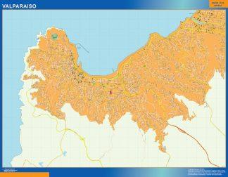 Mapa de Valparaiso en Chile gigante