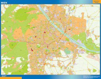 Mapa de Viena en Austria gigante