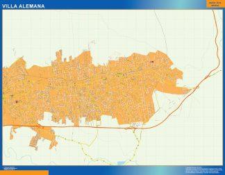 Mapa de Villa Alemana en Chile gigante