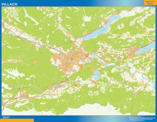 Mapa de Villach en Austria gigante