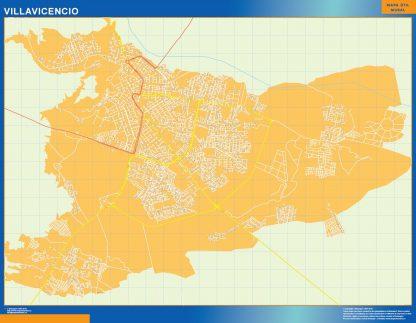Mapa de Villavicencio en Colombia gigante