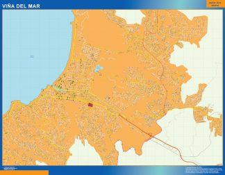 Mapa de Viña del Mar en Chile gigante