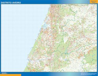 Mapa distrito Aveiro gigante